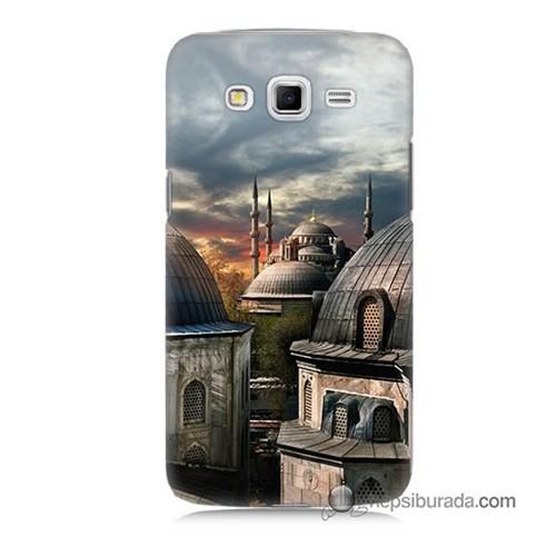 Teknomeg Samsung Galaxy Grand 2 Kapak Kılıf Cami Baskılı Silikon