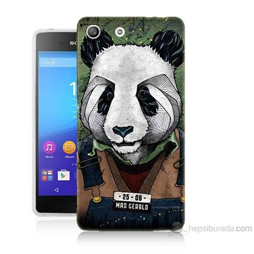 Teknomeg Sony Xperia M5 İşçi Panda Baskılı Silikon Kılıf