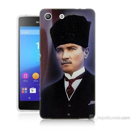 Teknomeg Sony Xperia M5 Mustafa Kemal Atatürk Baskılı Silikon Kılıf