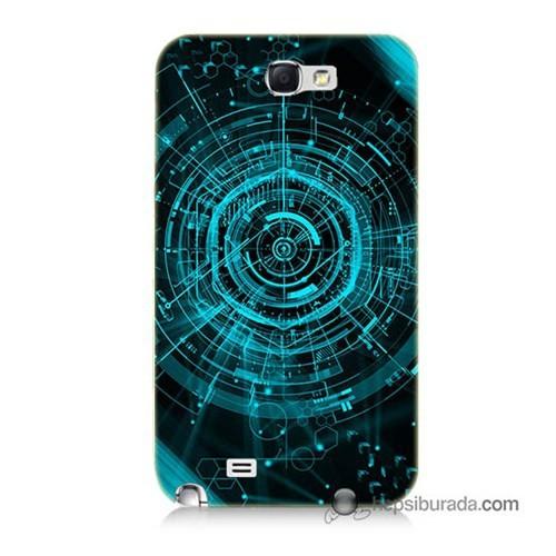 Teknomeg Samsung Galaxy Note 2 Kapak Kılıf Asit Baskılı Silikon