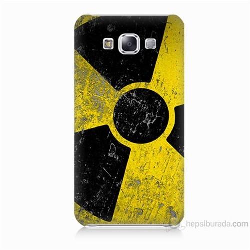 Teknomeg Samsung Galaxy E5 Kapak Kılıf Radyasyon Baskılı Silikon