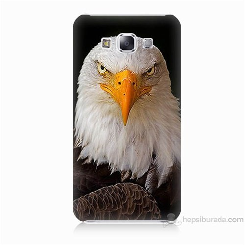 Teknomeg Samsung Galaxy E5 Kapak Kılıf Kartal Baskılı Silikon