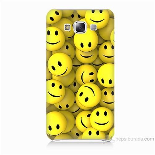 Teknomeg Samsung Galaxy E7 Kapak Kılıf Smile Baskılı Silikon