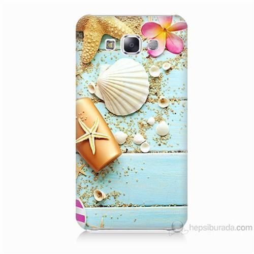 Teknomeg Samsung Galaxy E7 Kapak Kılıf Deniz Kabuğu Baskılı Silikon