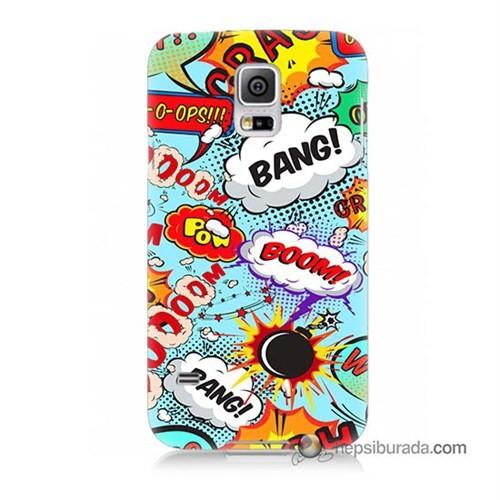 Teknomeg Samsung Galaxy S5 Mini Kılıf Kapak Savaş Efektleri Baskılı Silikon