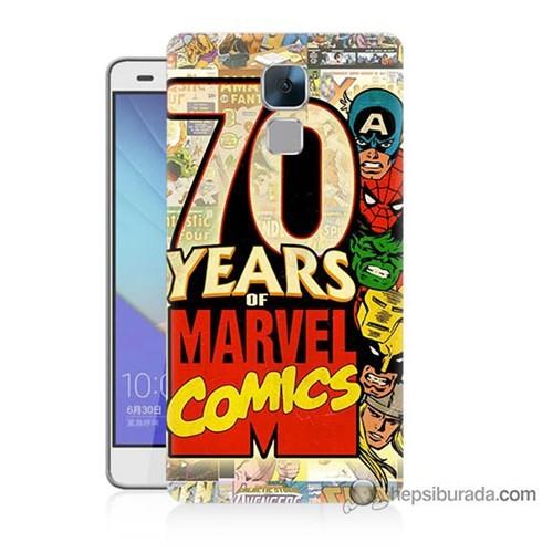Teknomeg Huawei Honor 7 Kılıf Kapak Marvel Karakterleri Baskılı Silikon
