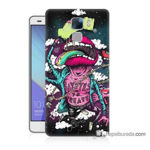 Teknomeg Huawei Honor 7 Kapak Kılıf Roling Stones Baskılı Silikon