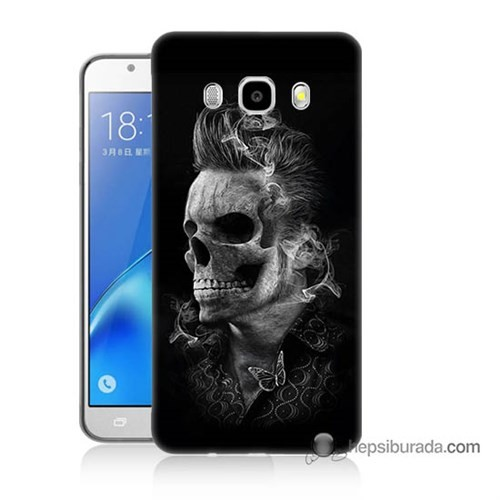 Teknomeg Samsung J7 2016 Kapak Kılıf Elvis Presley Efsanesi Baskılı Silikon