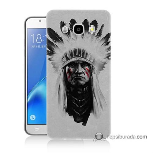 Teknomeg Samsung J7 2016 Kılıf Kapak Geronimo Baskılı Silikon