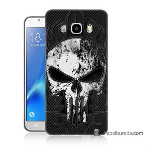 Teknomeg Samsung J7 2016 Kapak Kılıf Punnisher Kurukafa Baskılı Silikon