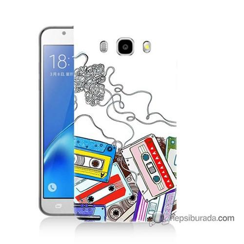 Teknomeg Samsung J5 2016 Kapak Kılıf Kasetler Baskılı Silikon