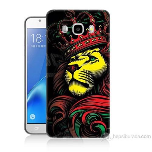 Teknomeg Samsung Galaxy J7 2016 Kapak Kılıf Kral Aslan Baskılı Silikon