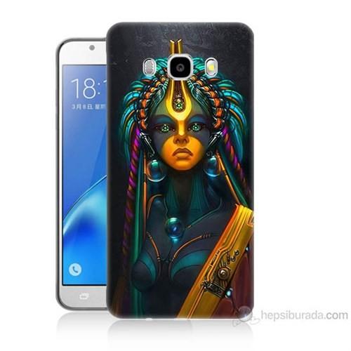 Teknomeg Samsung Galaxy J7 2016 Kapak Kılıf İllustrations Resim Baskılı Silikon