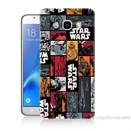 Teknomeg Samsung Galaxy J7 2016 Kapak Kılıf Star Wars Baskılı Silikon
