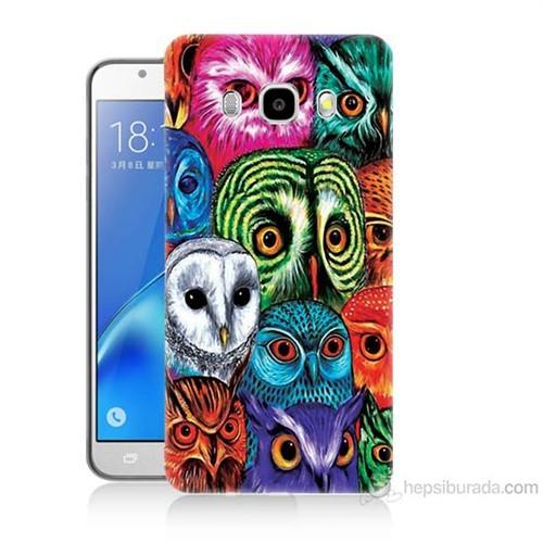 Teknomeg Samsung Galaxy J7 2016 Kapak Kılıf Baykuşlar Baskılı Silikon