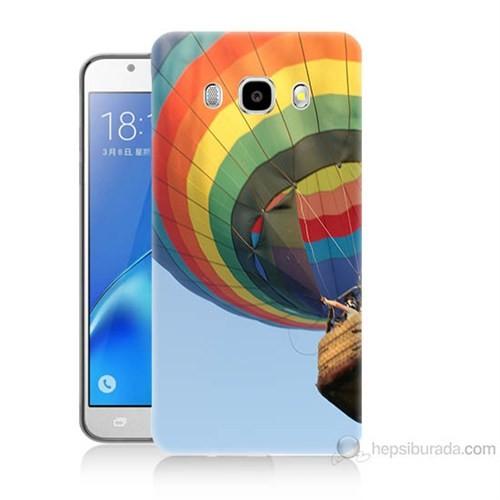 Teknomeg Samsung Galaxy J7 2016 Kapak Kılıf Uçan Balon Baskılı Silikon