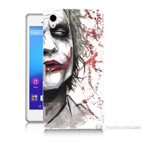 Teknomeg Sony Xperia M4 Kanlı Joker Baskılı Silikon Kılıf
