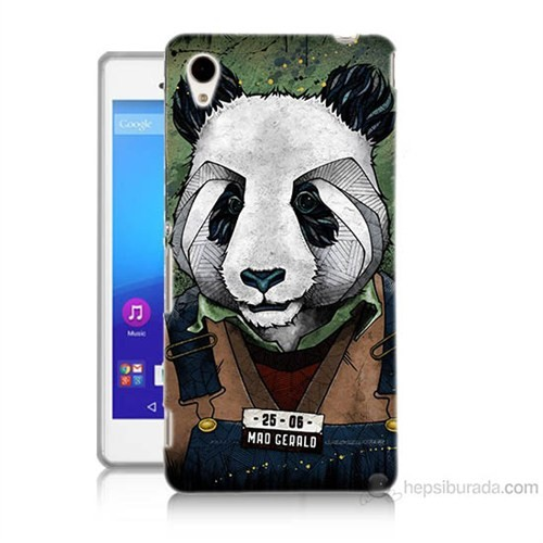 Teknomeg Sony Xperia M4 İşçi Panda Baskılı Silikon Kılıf