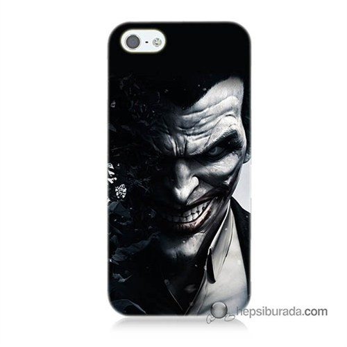 Teknomeg İphone 5S Kılıf Kapak Joker Baskılı Silikon