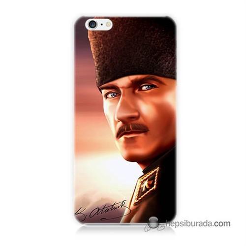 Teknomeg İphone 6 Kapak Kılıf Mustafa Kemal Baskılı Silikon