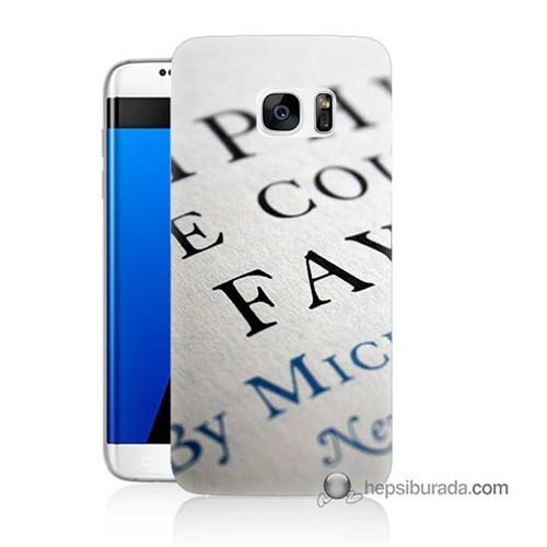 Teknomeg Samsung Galaxy S7 Edge Kapak Kılıf Yazılar Baskılı Silikon
