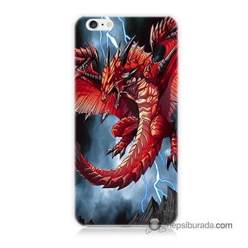 Teknomeg İphone 6 Plus Kapak Kılıf Dragon Baskılı Silikon