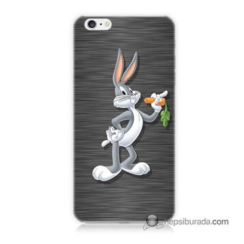 Teknomeg İphone 6S Kapak Kılıf Bugs Bunny Baskılı Silikon