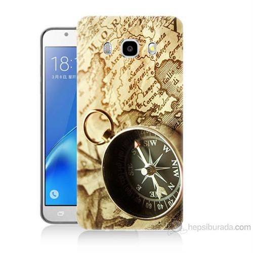 Teknomeg Samsung Galaxy J5 2016 Kapak Kılıf Pusula Baskılı Silikon