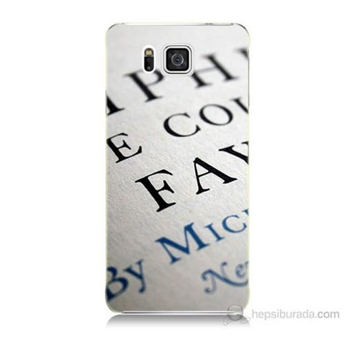 Teknomeg Samsung Galaxy Alpha G850 Yazılar Baskılı Silikon Kılıf
