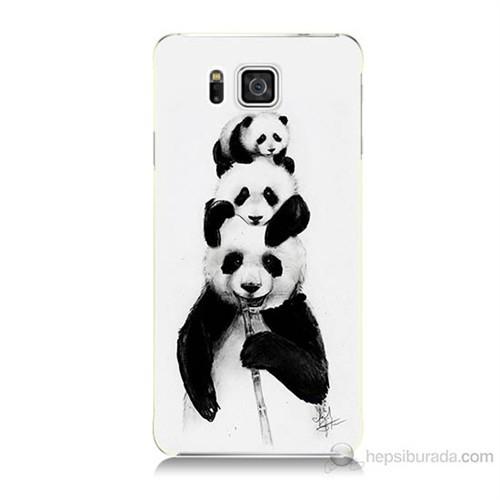 Teknomeg Samsung Galaxy Alpha G850 Panda Ailesi Baskılı Silikon Kılıf