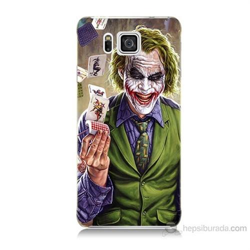 Teknomeg Samsung Galaxy Alpha G850 Kartlı Joker Baskılı Silikon Kılıf