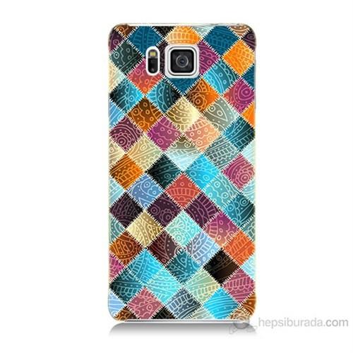 Teknomeg Samsung Galaxy Alpha G850 Kırkyama Baskılı Silikon Kılıf
