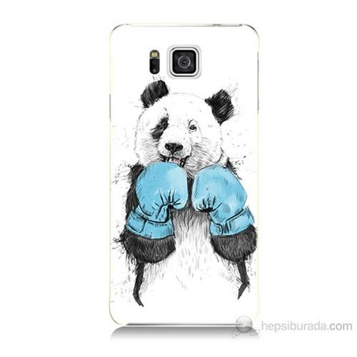 Teknomeg Samsung Galaxy Alpha G850 Boksör Panda Baskılı Silikon Kılıf