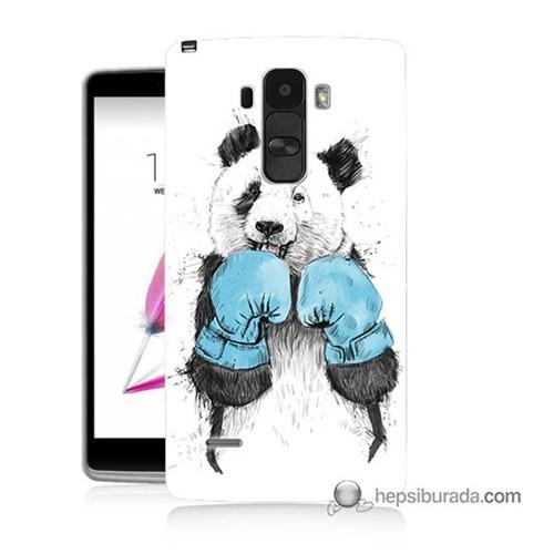 Teknomeg Lg G4 Stylus Kılıf Kapak Boksör Panda Baskılı Silikon