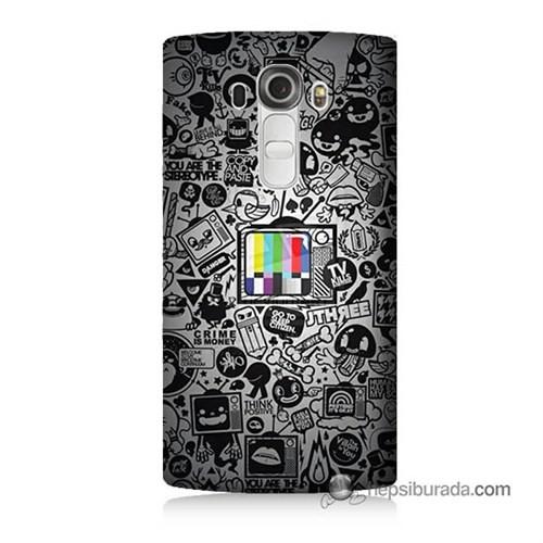 Teknomeg Lg G4 Beat Kapak Kılıf Renkli Tv Baskılı Silikon