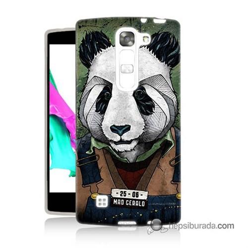 Teknomeg Lg G4c Kapak Kılıf İşçi Panda Baskılı Silikon