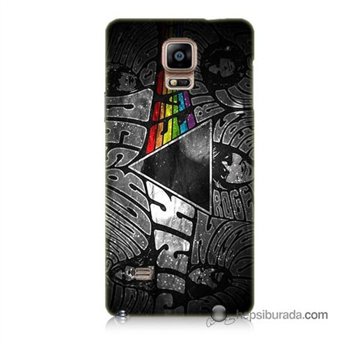 Teknomeg Samsung Galaxy Note 4 Kapak Kılıf Pink Floyd Baskılı Silikon