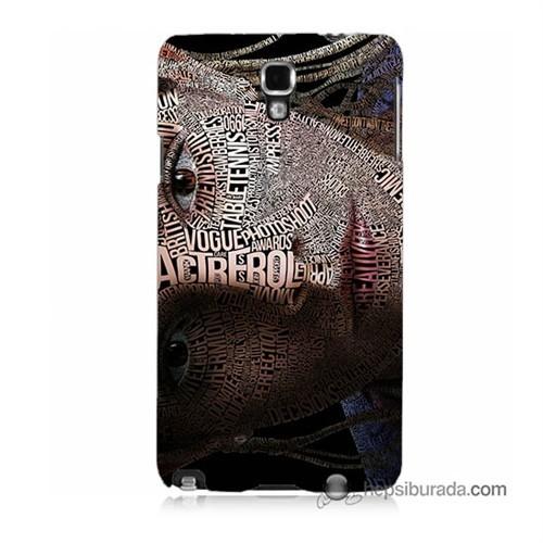 Teknomeg Samsung Galaxy Note 3 Neo Kılıf Kapak Yazılı Kadın Baskılı Silikon