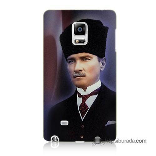 Teknomeg Samsung Galaxy Note Edge Kılıf Kapak Mustafa Kemal Atatürk Baskılı Silikon