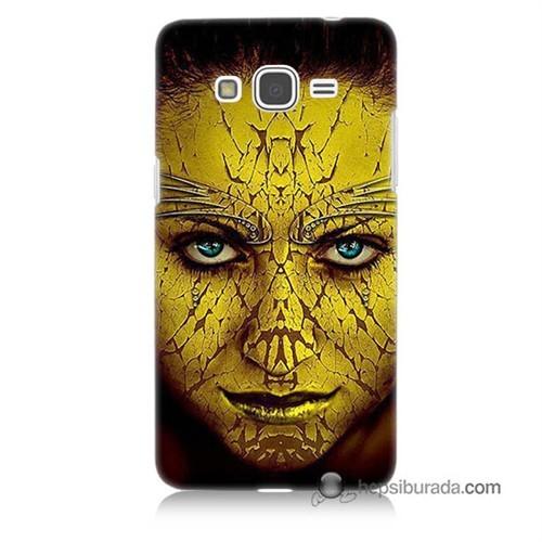 Teknomeg Samsung Galaxy Grand Prime Kapak Kılıf Sarı Kız Baskılı Silikon