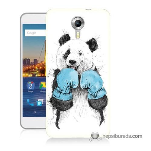 Teknomeg General Mobile 4G Android One Kılıf Kapak Boksör Panda Baskılı Silikon