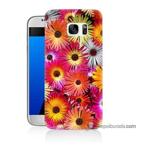 Teknomeg Samsung Galaxy S7 Kılıf Kapak Kasımpatı Baskılı Silikon