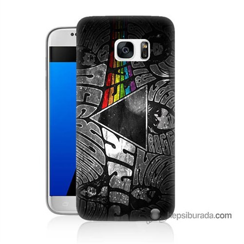 Teknomeg Samsung Galaxy S7 Kapak Kılıf Pink Floyd Baskılı Silikon