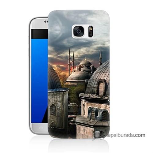 Teknomeg Samsung Galaxy S7 Kapak Kılıf Cami Baskılı Silikon