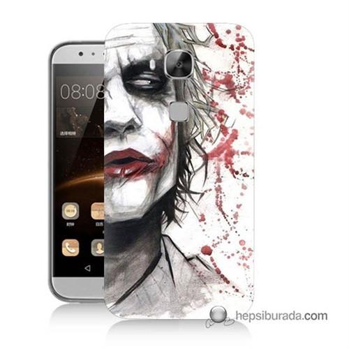 Teknomeg Huawei Ascend G8 Kapak Kılıf Kanlı Joker Baskılı Silikon
