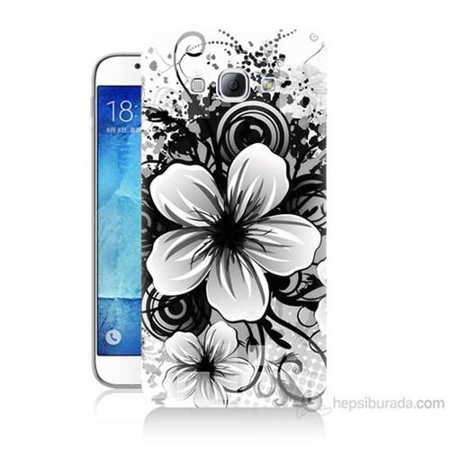 Teknomeg Samsung Galaxy A8 Kapak Kılıf Manolya Baskılı Silikon