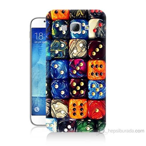 Teknomeg Samsung Galaxy A8 Kapak Kılıf Zarlar Baskılı Silikon
