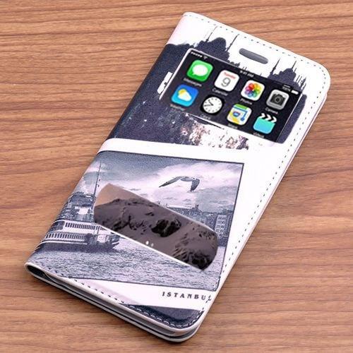 Teleplus İphone 6 Desenli Çift Pencereli Kılıf Eminönü
