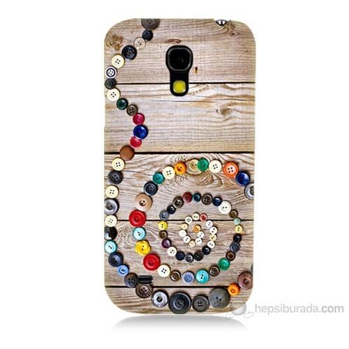 Teknomeg Samsung Galaxy S4 Mini Düğmeler Baskılı Silikon Kılıf