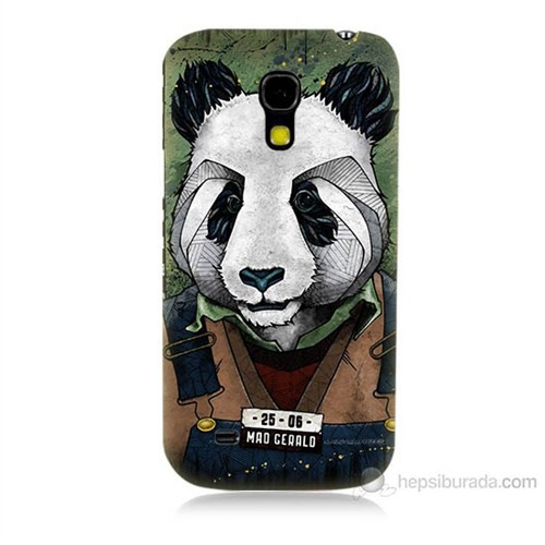 Teknomeg Samsung Galaxy S4 Mini İşçi Panda Baskılı Silikon Kılıf
